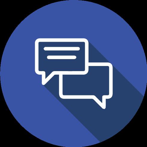 Chat icon facturación infectolab